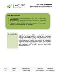 Position Statement Preoperative Skin Antisepsis