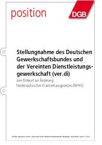 position Stellungnahme des Deutschen Gewerkschaftsbundes und der Vereinten Dienstleistungsgewerkschaft