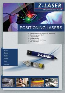 POSITIONING LASERS. Wood Stone Textile Metal Tire Medical