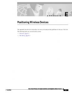 Positioning Wireless Devices