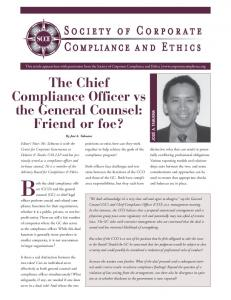 positions co-exist, how can they work together to help achieve the goals of the compliance program?