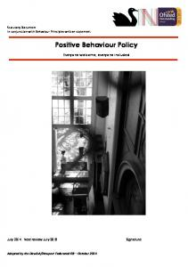 Positive Behaviour Policy
