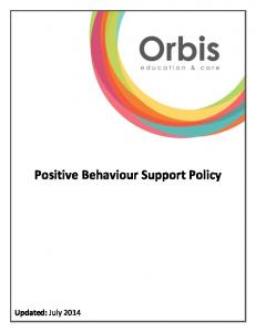 Positive Behaviour Support Policy