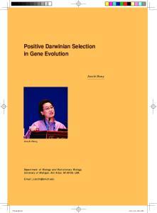Positive Darwinian Selection in Gene Evolution