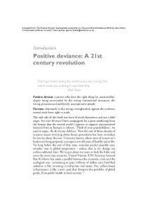 Positive deviance: A 21st century revolution