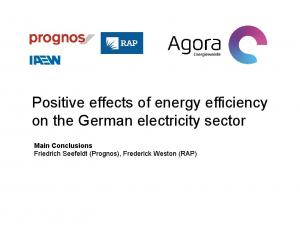 Positive effects of energy efficiency on the German electricity sector