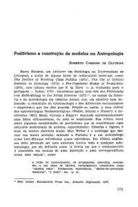 Positivismo e construção de modelos na Antropologia