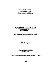 POSSIBILIDADES DE SENTIDO