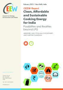 Possibilities and Realities beyond LPG