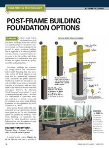 Post-Frame Building Foundation Options