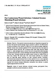 Post-Laminectomy Wound Infections: Colonized Seromas Mimicking Wound Infections