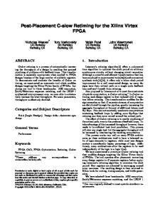 Post-Placement C-slow Retiming for the Xilinx Virtex FPGA