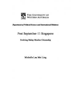 Post September-11 Singapore