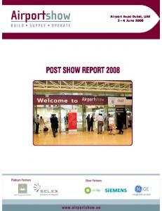 POST SHOW REPORT 2008