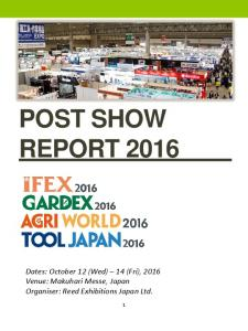 POST SHOW REPORT 2016