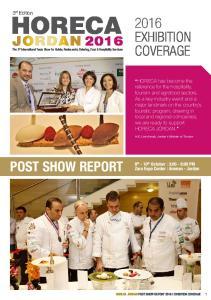 POST SHOW REPORT HORECA JORDAN POST SHOW REPORT