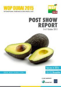 POST SHOW REPORT October 2015