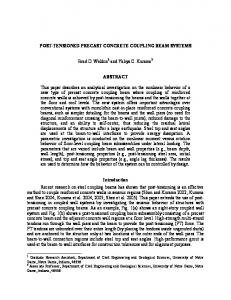 POST-TENSIONED PRECAST CONCRETE COUPLING BEAM SYSTEMS ABSTRACT