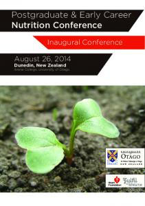 Postgraduate & Early Career Nutrition Conference