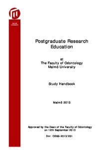 Postgraduate Research Education