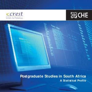 Postgraduate Studies in South Africa. A Statistical Profile