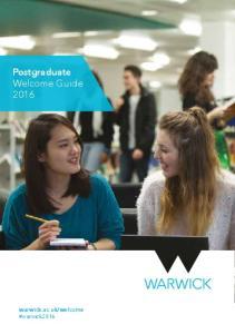 Postgraduate Welcome Guide 2016