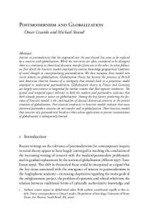 Postmodernism and Globalization