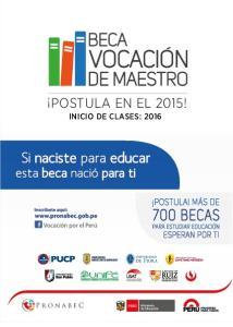 POSTULA EN EL 2015! INICIO DE CLASES: 2016