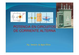 POTENCIA EN CIRCUITOS DE CORRIENTE ALTERNA. Mg. Amancio R. Rojas Flores