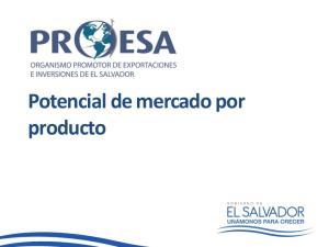 Potencial de mercado por producto