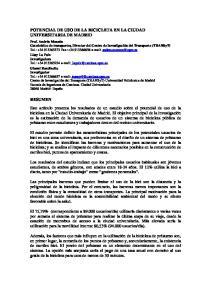 POTENCIAL DE USO DE LA BICICLETA EN LA CIUDAD UNIVERSITARIA DE MADRID