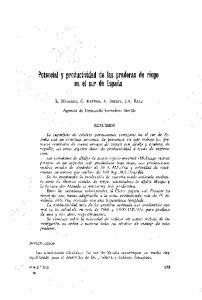 Potencial y productividad de las praderas de riego en el sur de España