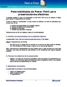 Potencialidades de Power Point para presentaciones efectivas