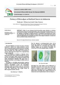 Potency of Microalgae as Biodiesel Source in Indonesia