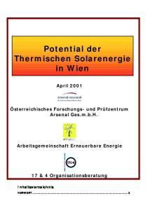 Potential der Thermischen Solarenergie in Wien