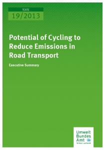 Potential of Cycling to Reduce Emissions in Road Transport