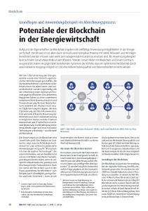 Potenziale der Blockchain in der Energiewirtschaft