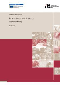 Potenziale der Industriekultur in Brandenburg