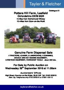 Potters Hill Farm, Leafield Oxfordshire OX29 9QB