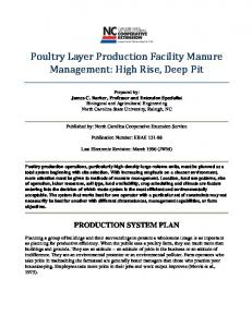 Poultry Layer Production Facility Manure Management: High Rise, Deep Pit
