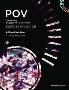 POV. A World Not Ours. Community Engagement & Education. A Film by Mahdi Fleifel