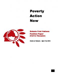 Poverty Action Now. Ontario First Nations Position Paper. (Draft for Discussion)