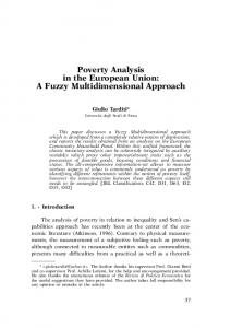 Poverty Analysis in the European Union: A Fuzzy Multidimensional Approach