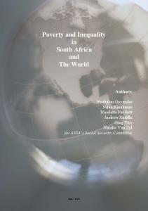Poverty and Inequality in South Africa and The World