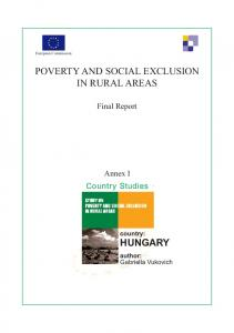 POVERTY AND SOCIAL EXCLUSION IN RURAL AREAS