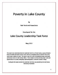 Poverty in Lake County