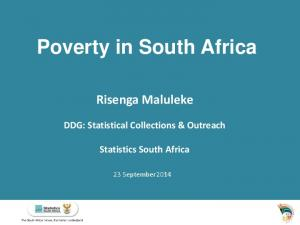 Poverty in South Africa