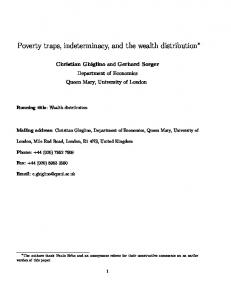 Poverty traps, indeterminacy, and the wealth distribution