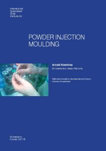 POWDER INJECTION MOULDING