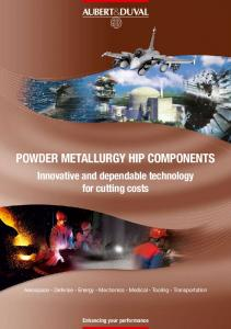 Powder Metallurgy HIP COMPONENTS